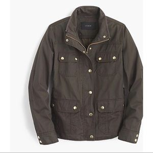 J. Crew Downtown Field Jacket Mossy Brown, Medium